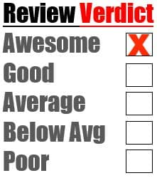 awesome review rating